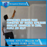 Emulsión de acrílico del estireno excepcional de la adherencia para las capas de la pintura de fondo de la pared