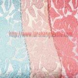 ポリエステルファブリックヤーンは女性の服のホーム織物のためのジャカードファブリック化学ファイバーを染めた
