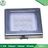 Innen 1.8W LED verzieren das dünne Schrank-Licht quadratisches Schrank-Licht