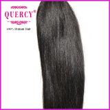 O cabelo indiano de tecelagem reto de seda o mais barato do Virgin do preço de fábrica