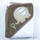 タオル-赤ん坊の綿のフード付きタオル