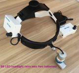 외과의사에게 의학 외과 LED 맨 위 램프 빛