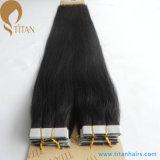 自然で黒いRemyテープ人間の毛髪の拡張を離れて20%