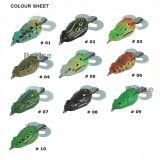 Richiamo morbido artificiale di pesca della rana dell'esca Pr-Fh75 12g