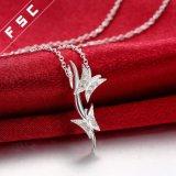 Halsband van de Vlinder van het Zirkoon van het Ontwerp van de manier de Dubbele in CZ