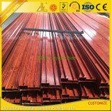 La poudre la plus neuve a enduit des profils anodisés par graines en bois en aluminium pour l'usage d'industrie