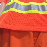 Workwear de imitação do vestuário do verão da memória do poliéster do algodão com fita reflexiva