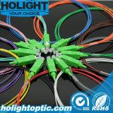 Симплекс 0.9mm Sc APC отрезка провода оптического волокна 12 цветов