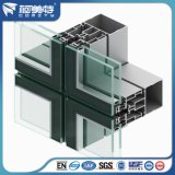 Profil du mur en rideau en aluminium pour le projet de façade en verre de bâtiment