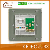 Wall Switch TV + Tel Socket avec ce, Saso, certificat IEC