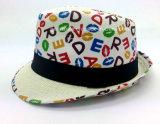 Fedora-Hut mit gedrucktem Shell (YGF038)