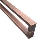 Maniglia di portello di legno di vetro di titanio della maniglia di portello dell'acciaio inossidabile dell'oro del randello KTV