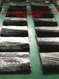 Свернутый HDPE плоский мешок отброса черноты полиэтиленового пакета