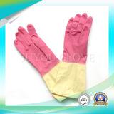 Guantes de limpieza de látex de trabajo antiácido con alta calidad