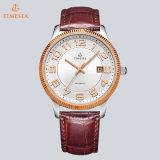 Leatheの&Stainlessスチールバンド72321が付いている腕時計と決め付けられる贅沢な自動腕時計の人