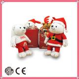 Giocattolo rosso della peluche dell'orso dell'orsacchiotto ICTI della peluche dell'OEM della fabbrica molle del giocattolo