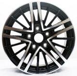 Rueda negra de la aleación de aluminio del coche de 15 pulgadas para Volkswagen