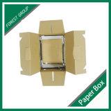 Rectángulo de empaquetado de papel reciclado de los materiales con la ventana clara