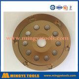 5 roue de meulage de cuvette de diamant de pouce PCD pour le béton