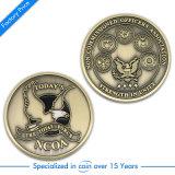 Pièce de monnaie commémorative de récompense de souvenir d'enjeu en métal antique fait sur commande