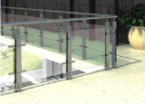 Balaustra dell'acciaio inossidabile di disegno moderno per l'inferriata di vetro