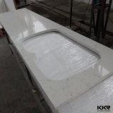 Prefab искусственний мраморный Countertop кухни камня кварца
