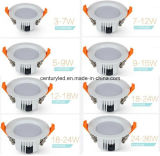 Dimmable 7W SMD LED는 Meanwell 운전사로 아래로 점화한다