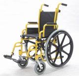 Manual de acero, cabritos, fundación, sillón de ruedas (YJ-013F)