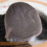 Pelo humano largo de la peluca atada mano larga completa negra del cordón