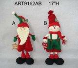 """14 """" H que estão Santa e boneco de neve, decoração do Asst-Natal 3"""
