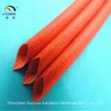 Het Silicone van uitstekende kwaliteit Rubber Met een laag bedekte Glasvezel Gevlechte Sleeving