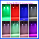 Mini LEIDENE Llight 7PCS*12W RGBW 4 in 1 Bewegend HoofdLicht