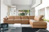 Strato del cuoio del coperchio dell'ammortizzatore di alta qualità, marca popolare della mobilia del sofà (TG-8093)