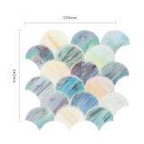 Mosaico di vetro a forma di ventaglio delle mattonelle delle coperture esterne di Backsplash Angeles della cucina