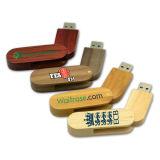 Mecanismo impulsor del flash del USB/venta al por mayor giratorios de bambú de madera del mecanismo impulsor de la pluma con precio de fábrica de calidad superior