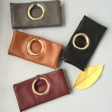 Sac en cuir Hcy#A607 d'unité centrale en métal de traitement de dames de sac à main d'embrayage de sac de type populaire populaire de mode