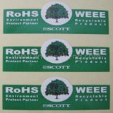 RoHS impreso Lalels respetuoso del medio ambiente