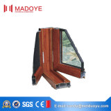 Entwurfs-Flügelfenster-Fenster mit Fliegen-Bildschirm nach aussen öffnen