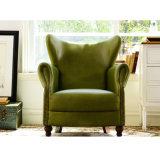 Amerikanischer klassischer lederner Sofa-Stuhl für Wohnzimmer