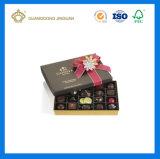 Коробка Handmade трудного роскошного твердого причудливый бумажного шоколада упаковывая (с silk узлами бабочки тесемки)