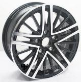 Roda preta da liga de alumínio do carro de 15 polegadas para Volkswagen