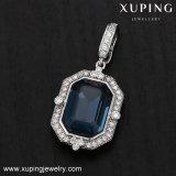 32908 de Vierkante Donkerblauwe Tegenhanger van de manier met Kristallen van Juwelen Swarovski