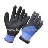 Gants revêtus de nitrile résistant au froid avec doublure en polaire acrylique