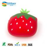 De goedkope Beurs van het Silicone van de Aardbei van de Vorm van het Fruit, de Leuke Zak van het Muntstuk van het Silicone