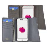 Couverture résistante aux chocs protectrice lourde de cas de chiquenaude de pochette avec l'identification et poches par la carte de crédit pour l'iPhone 7 d'Apple positif