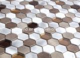 La venta caliente Foshan Mano-Cortó el mosaico del aluminio y del vidrio del mosaico del arte de la pared del diseño