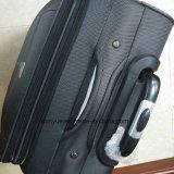 Il sacchetto duro del carrello del tessuto pratico di Oxford, abitudine fa la valigia nera dei bagagli di corsa con le rotelle