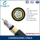 da fibra ao ar livre frouxa central não metálica da câmara de ar da extensão de 300m cabo ótico ADSS