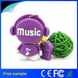 Disco de destello del USB de la venta del Música-Hombre caliente de la historieta