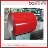 La bobine en acier galvanisée enduite d'une première couche de peinture/couleur a enduit la bobine en acier